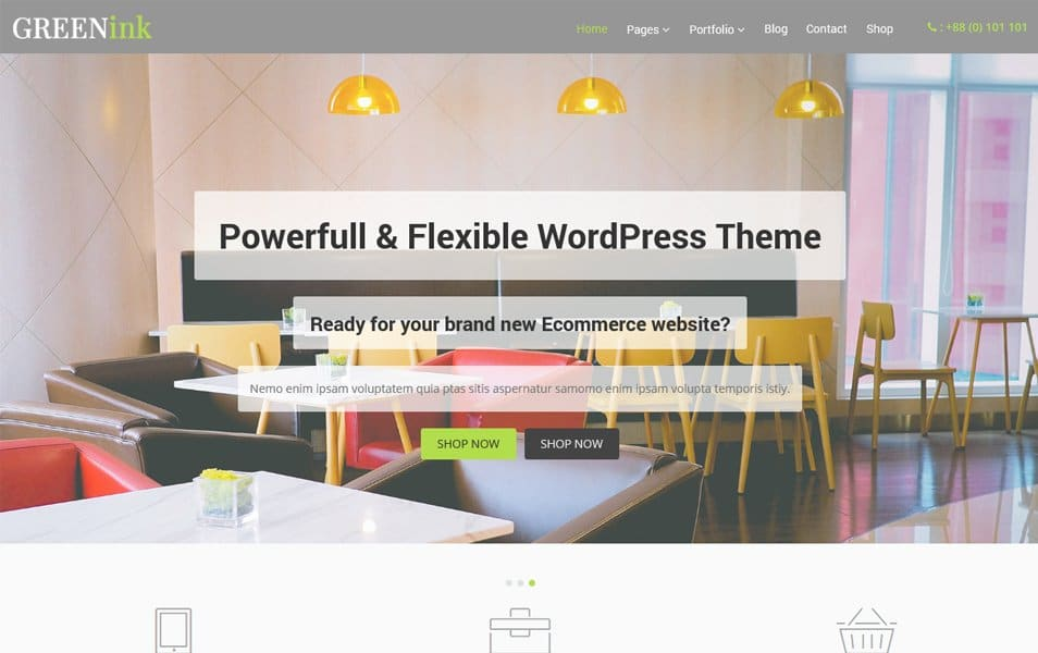 Green Ink Responsive WordPress Theme