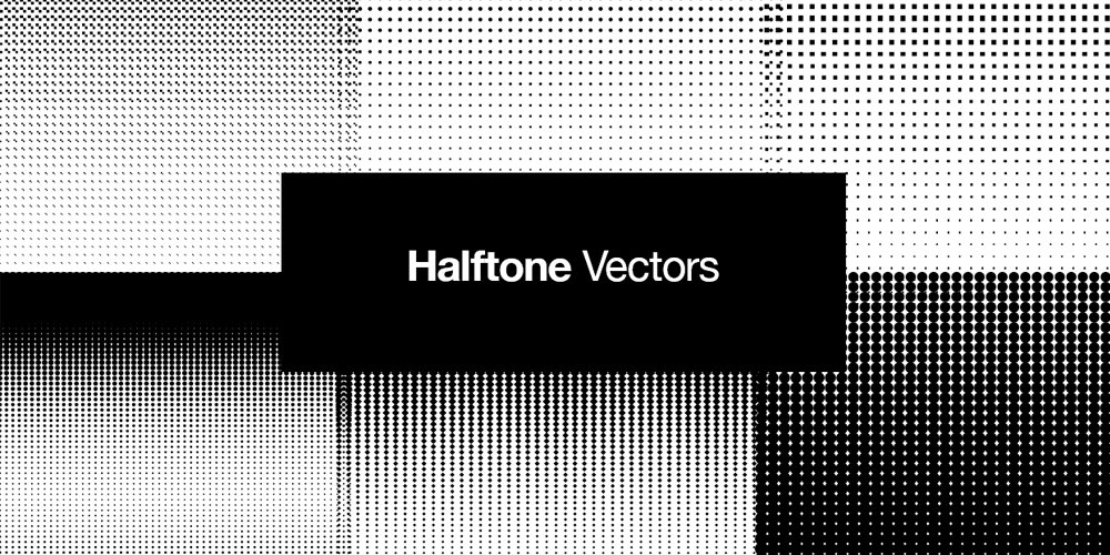 Halftone Vector Retro Patterns