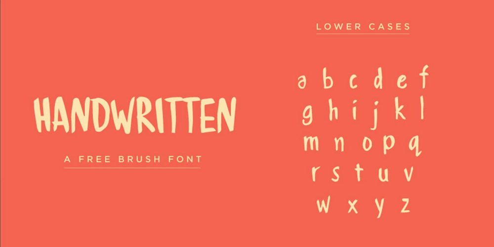 Handwritten Brush Font