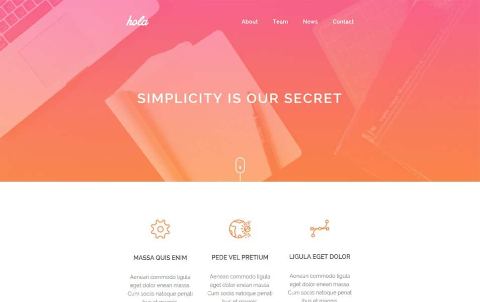 Hola Email HTML Template