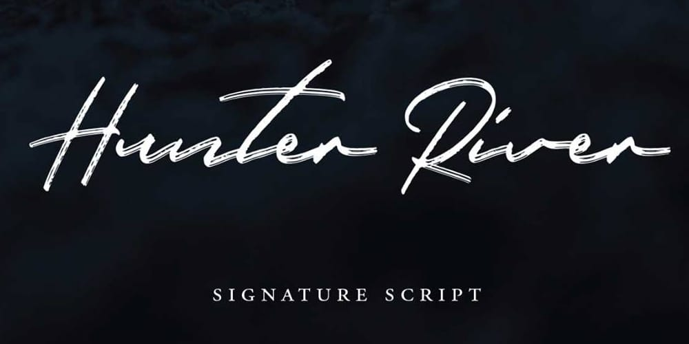 Hunter River Signature Brush Typeface