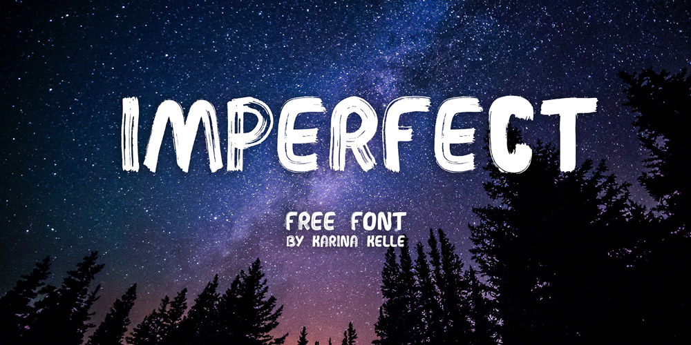 Imperfect Handwritten Brush Font
