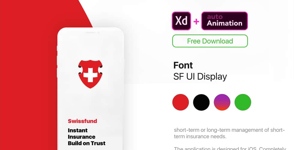 Insurance App Animated Template XD