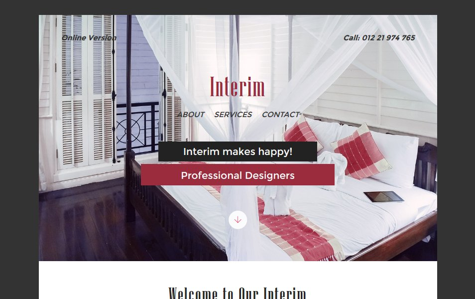 Interim a Newsletter Responsive Web Template