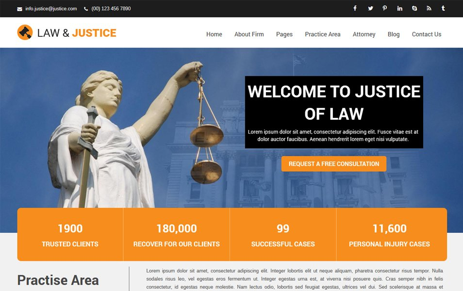 Justice Responsive WordPress Theme