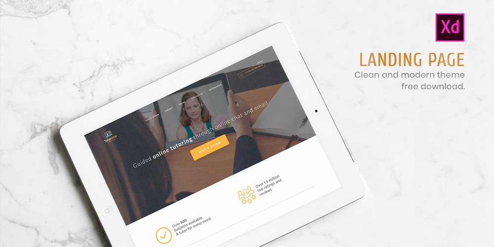 Landing Page for Education