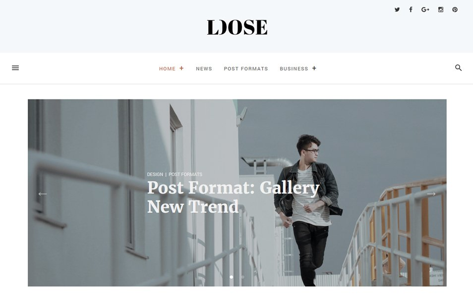Loose Responsive WordPress Theme