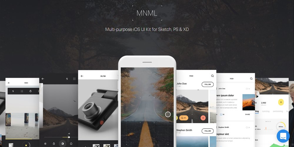 MNML Multi-purpose iOS UI Kit