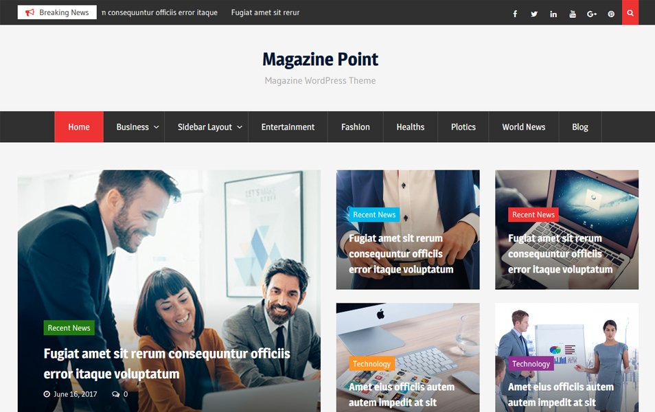 Magazine Point Responsive WordPress Theme