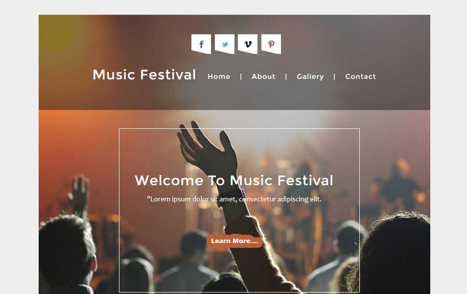 Music Festival a News Letter Responsive Web Template