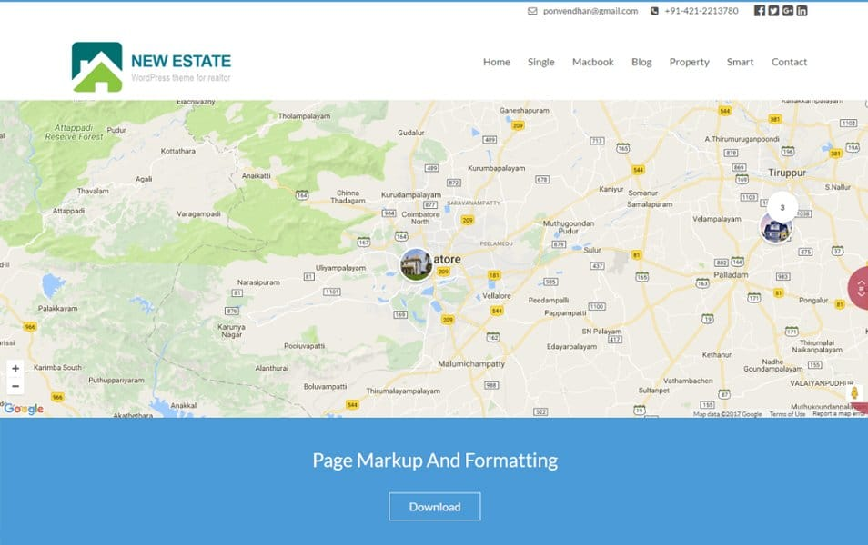 New Estate Responsive WordPress Theme