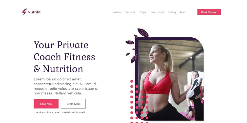 Nutrifit Landing Page Template