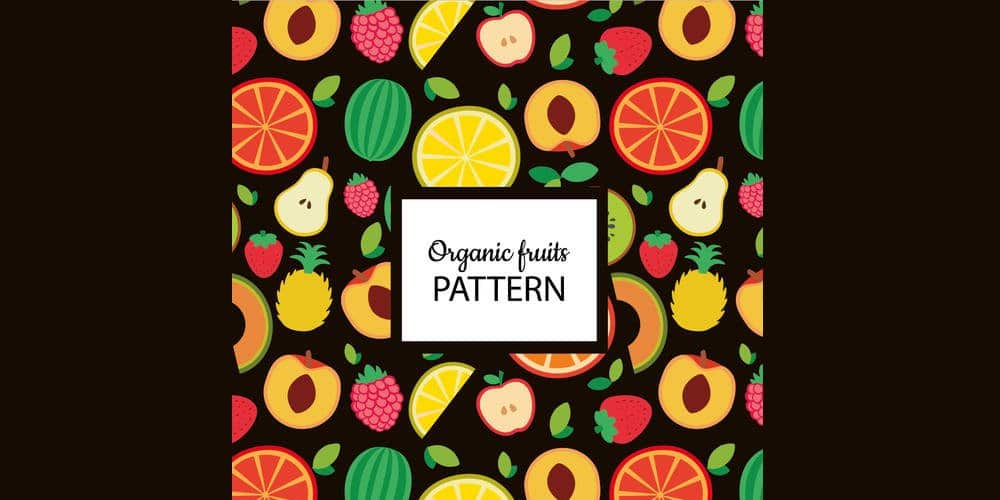 Organic Fruit Seamless Pattern