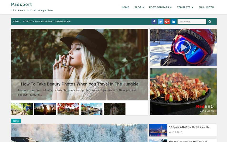 Passport Responsive WordPress Theme