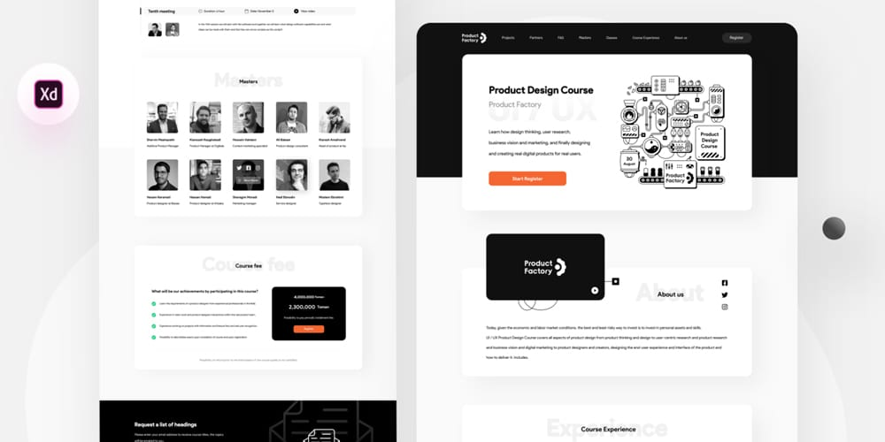 Product Factory Landing Template