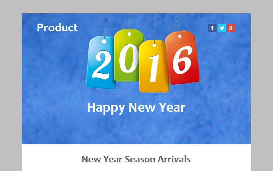 Product a New year Season Newsletter