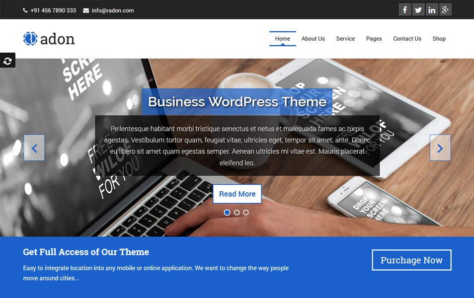 Radon Responsive WordPress Theme
