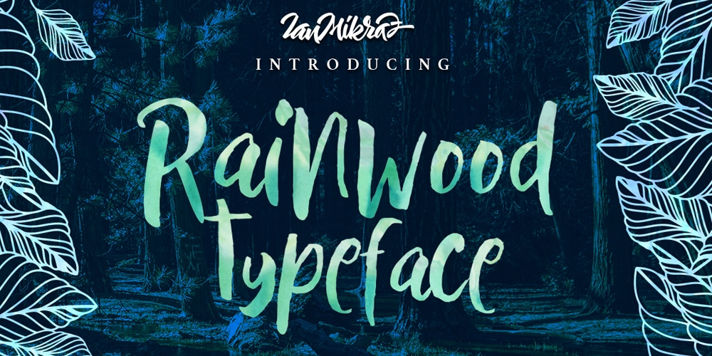 Rainwood Paint Brush Font