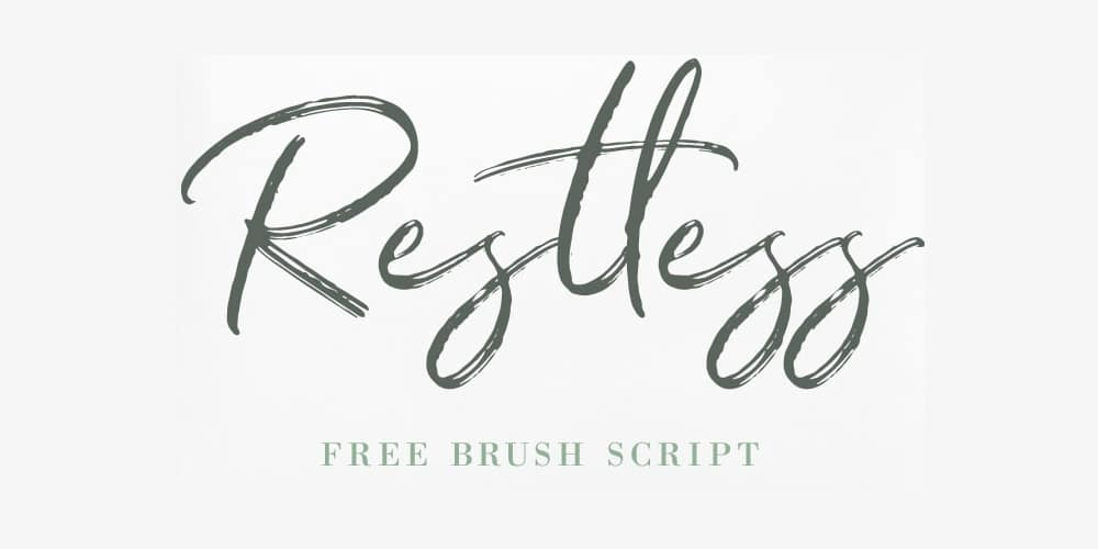 Restless Brush Script Fonts