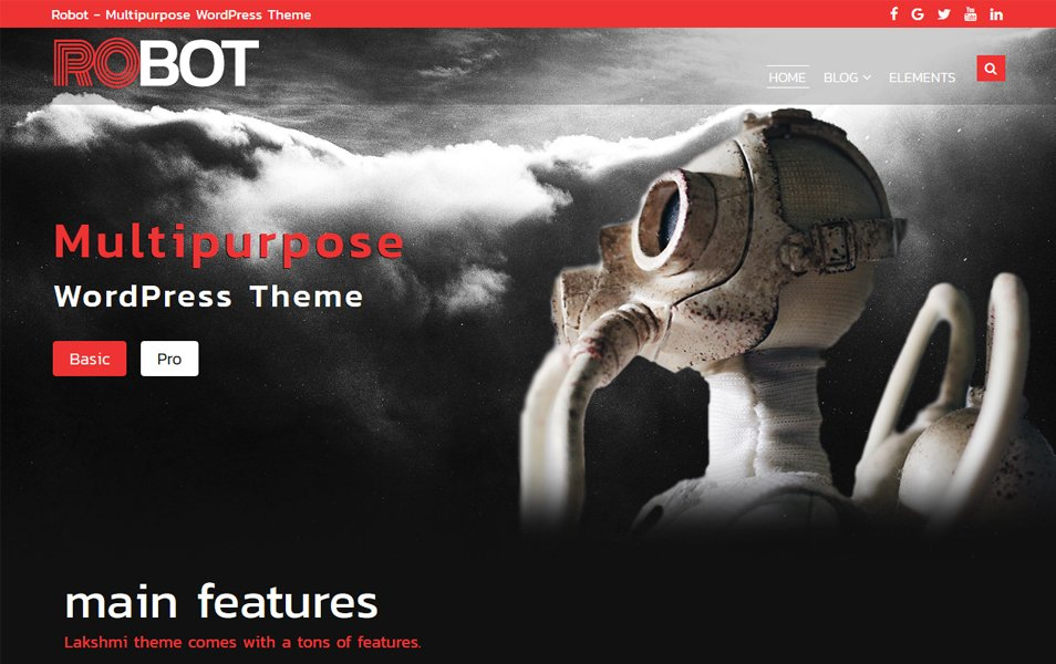Robot Responsive WordPress Theme