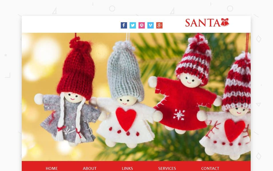 سانتا یک خبرنامه پاسخگو قالب وب