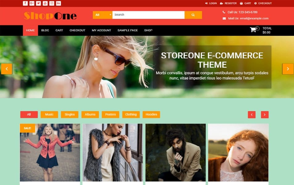 ShopOne Responsive WordPress Theme