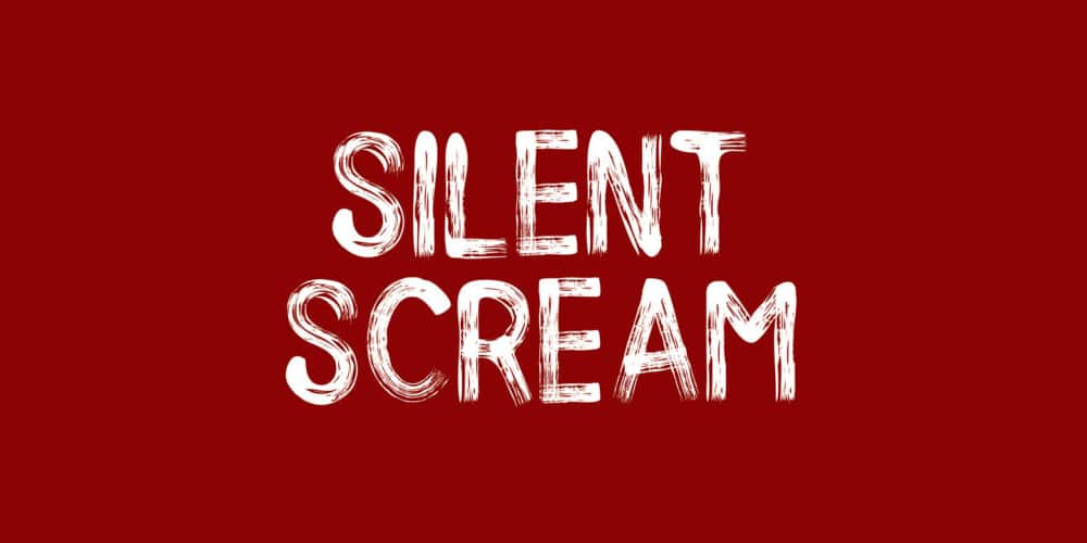 Silent Scream Brush Font