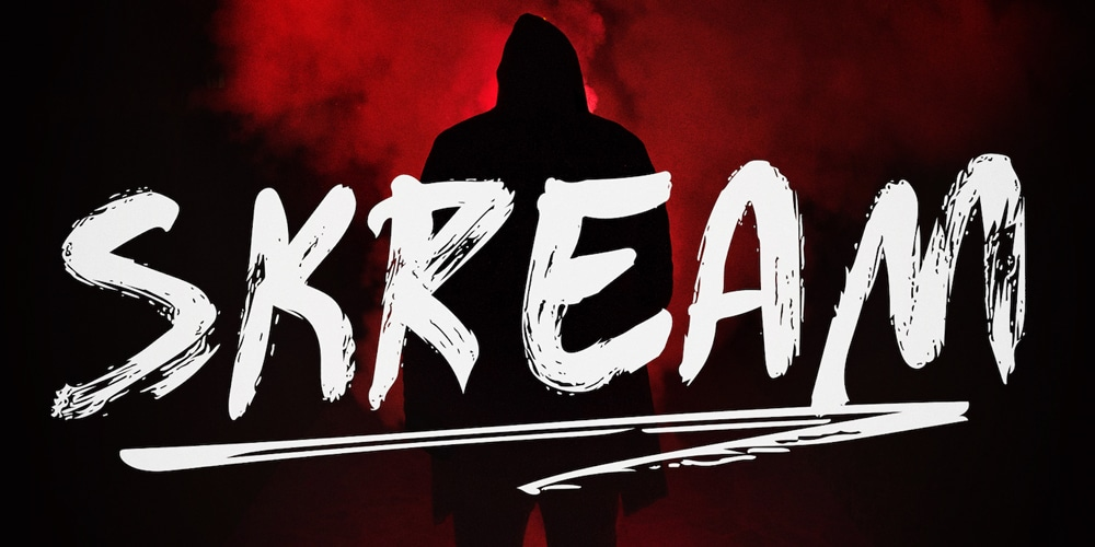 Skream Horror Brush Font