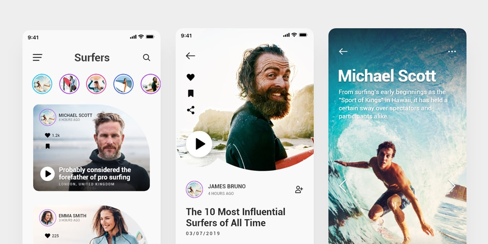 Surfing Mobile App Template