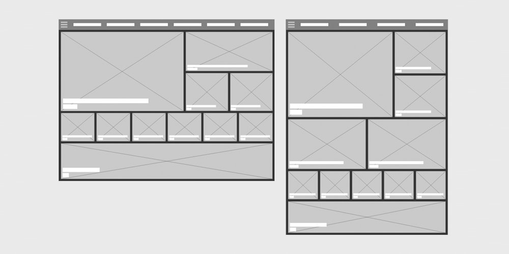 Tablet Wireframes for Adobe XD