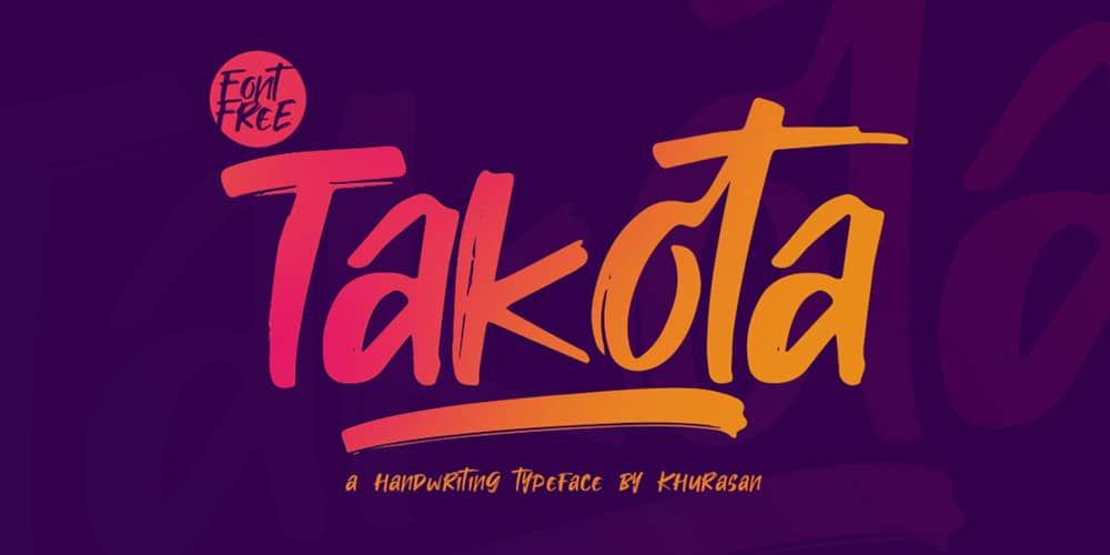 Takota Handwritten Brush Font