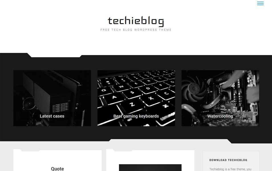 Techieblog Responsive WordPress Theme