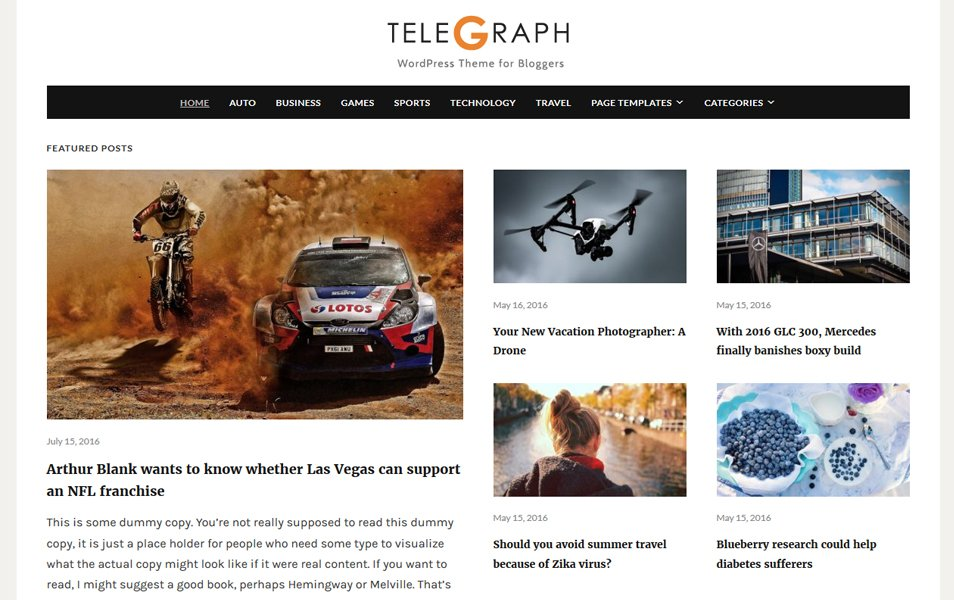 Telegraph Responsive WordPress Theme