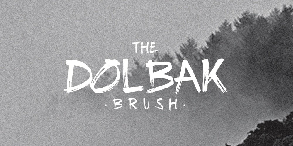 The Dolbak Brush Font