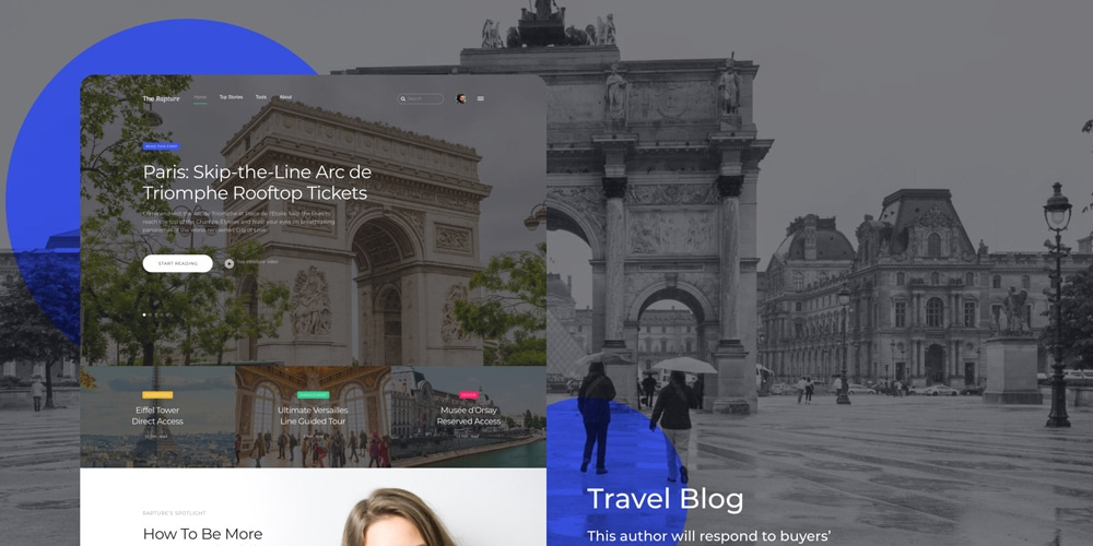 Travel Onepage Design for Adobe XD