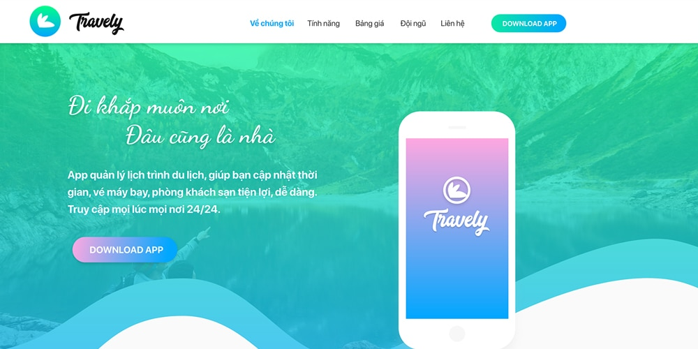 Travely Landing Page