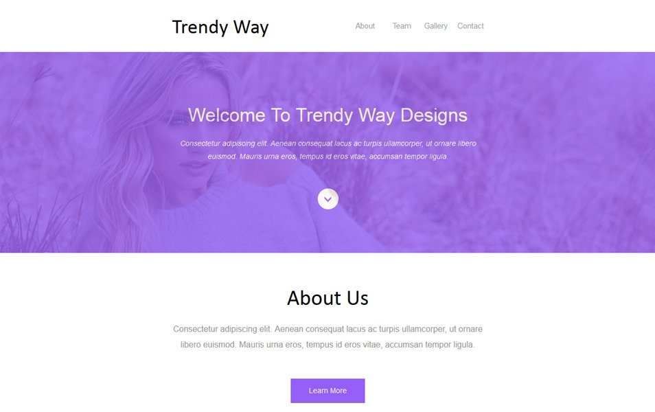 Trendy Way Newsletter Template