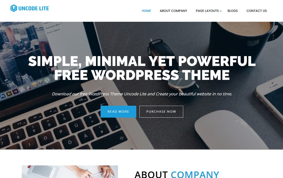 Uncode Lite Responsive WordPress Theme