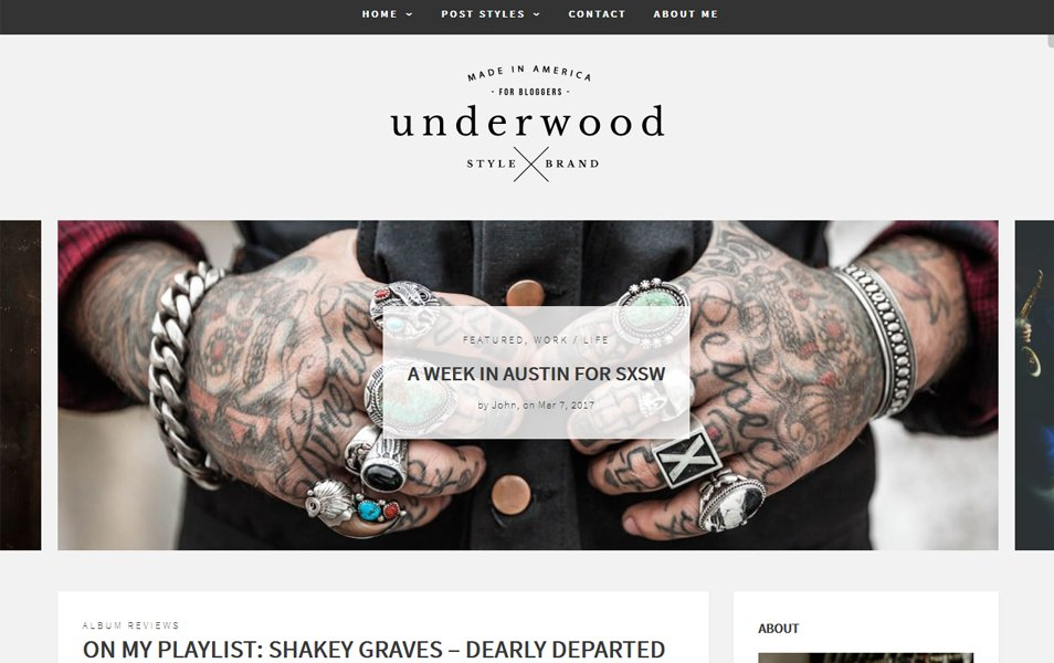 Underwood Responsive WordPress Theme