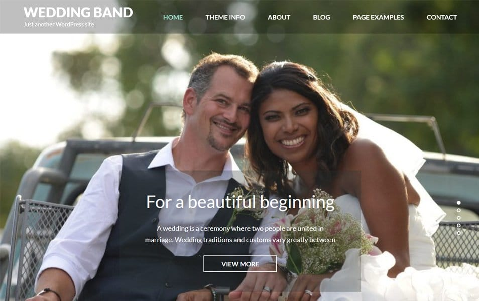 Wedding Band Responsive WordPress Theme