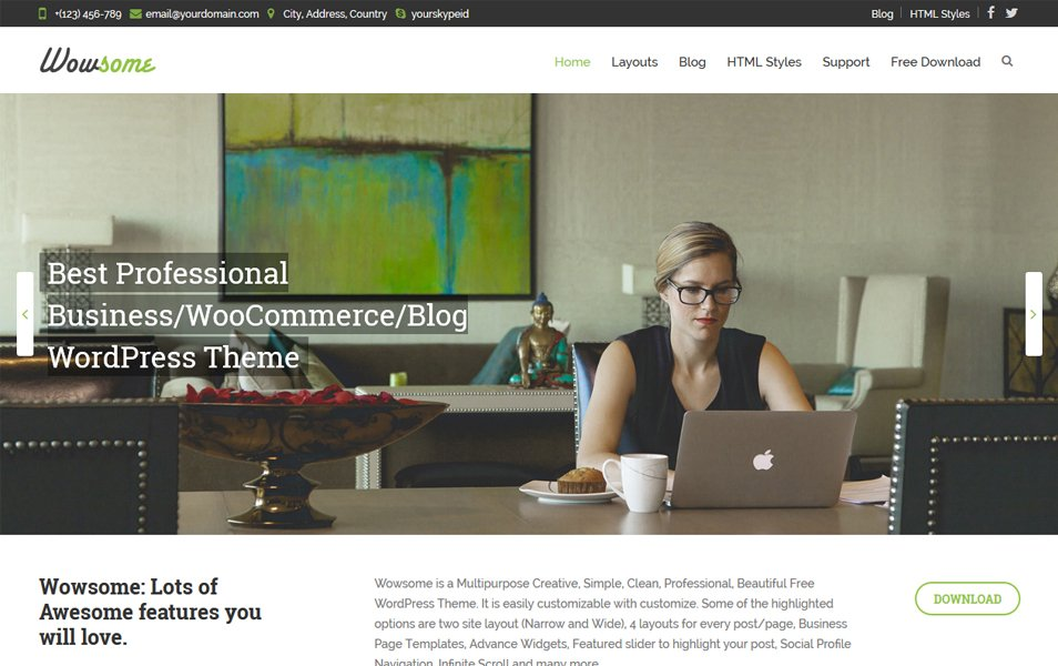 Wowsome Responsive WordPress Theme