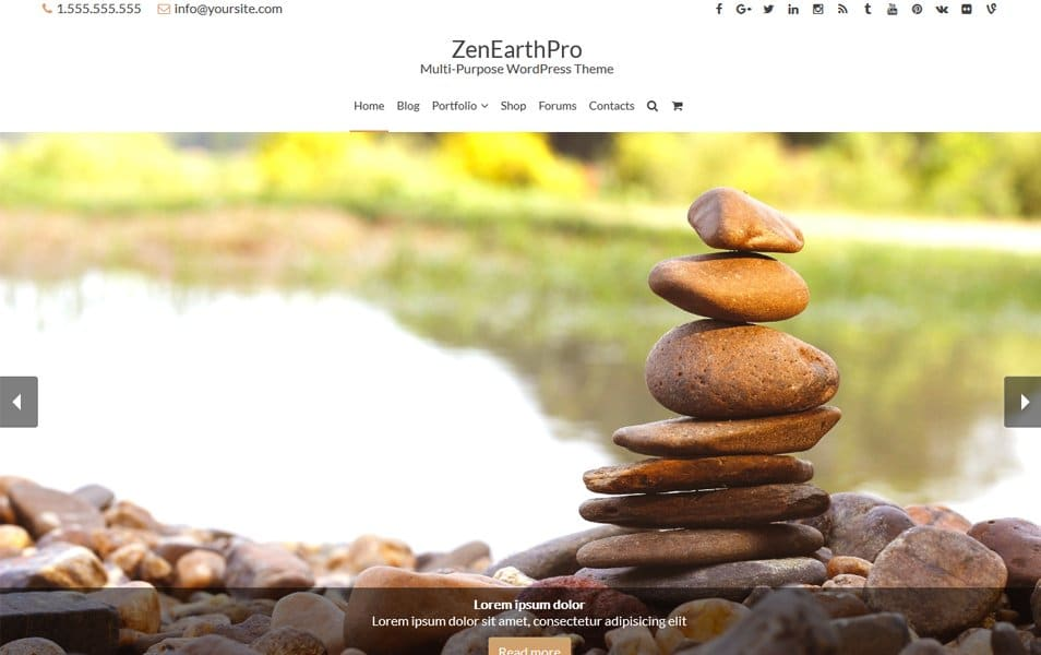 ZenEarth Responsive WordPress Theme