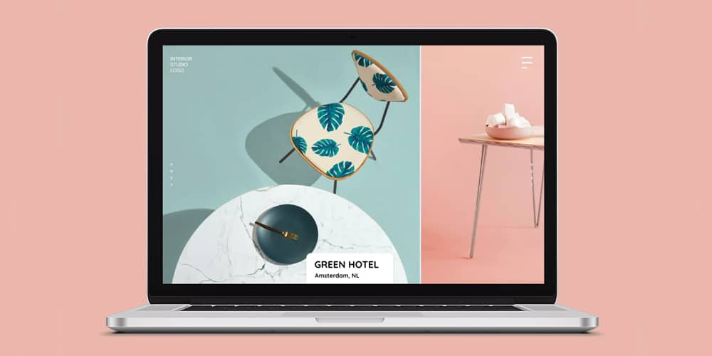 interior design agency web template