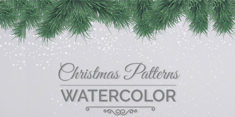 Christmas Patterns in Watercolor