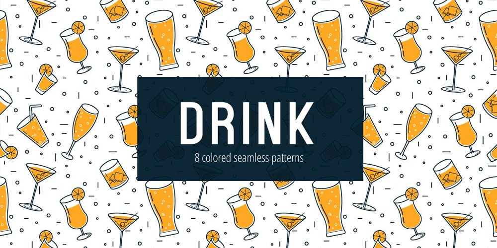 Drink Vector Seamless Pattern