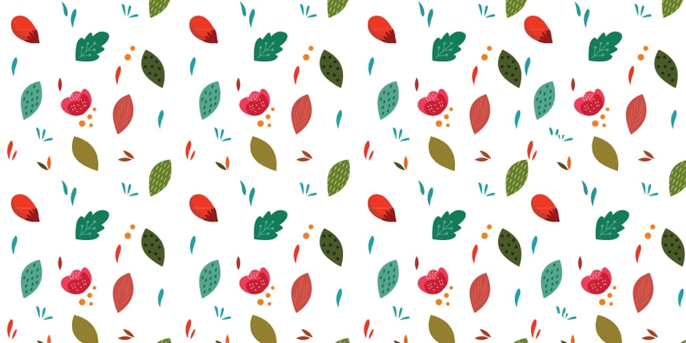 Forest Leaves Pattern Vector