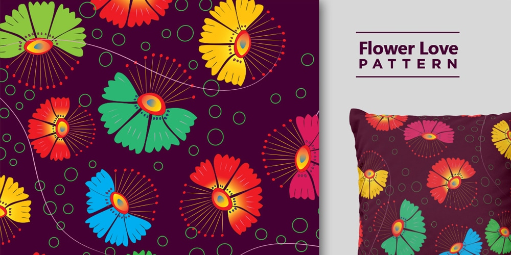 Free Flower Love Pattern