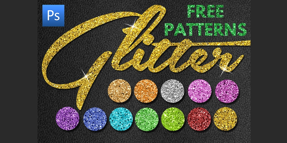 Free Glitter Patterns for Photoshop