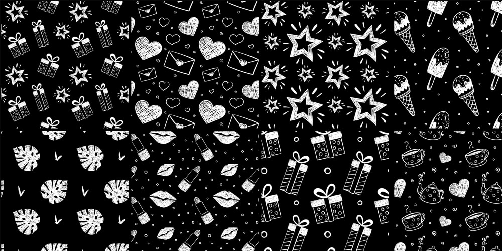 Free Hand Drawn Vector Patterns