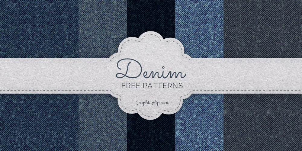 Free Seamless Denim Texture Patterns